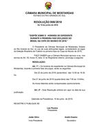 Resolução determina horário de expediente da Câmara Municipal